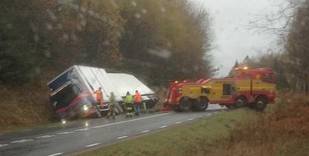 Olycka på riksväg 27 Bredaryd. Foto: Rikard Blixt