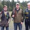 Pristagarna. Från vänster S-E Davidsson, Simon Andersson och C-G Gustavsson.