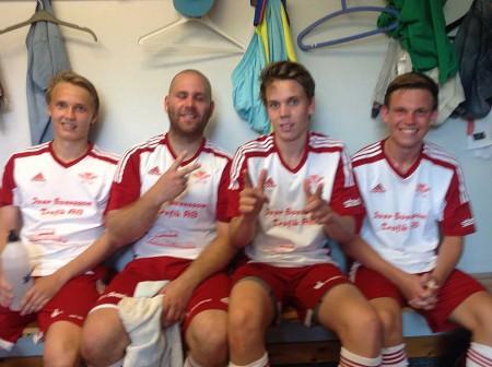 Ås målskyttar Johan Rohdin, Jesper Hjelmgren, John Gunnarsson och Filip Albertsson