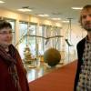 Eva Thomasdotter, Intendent på Smålands konstarkiv tillsammans med konstnären Daniel Segerberg